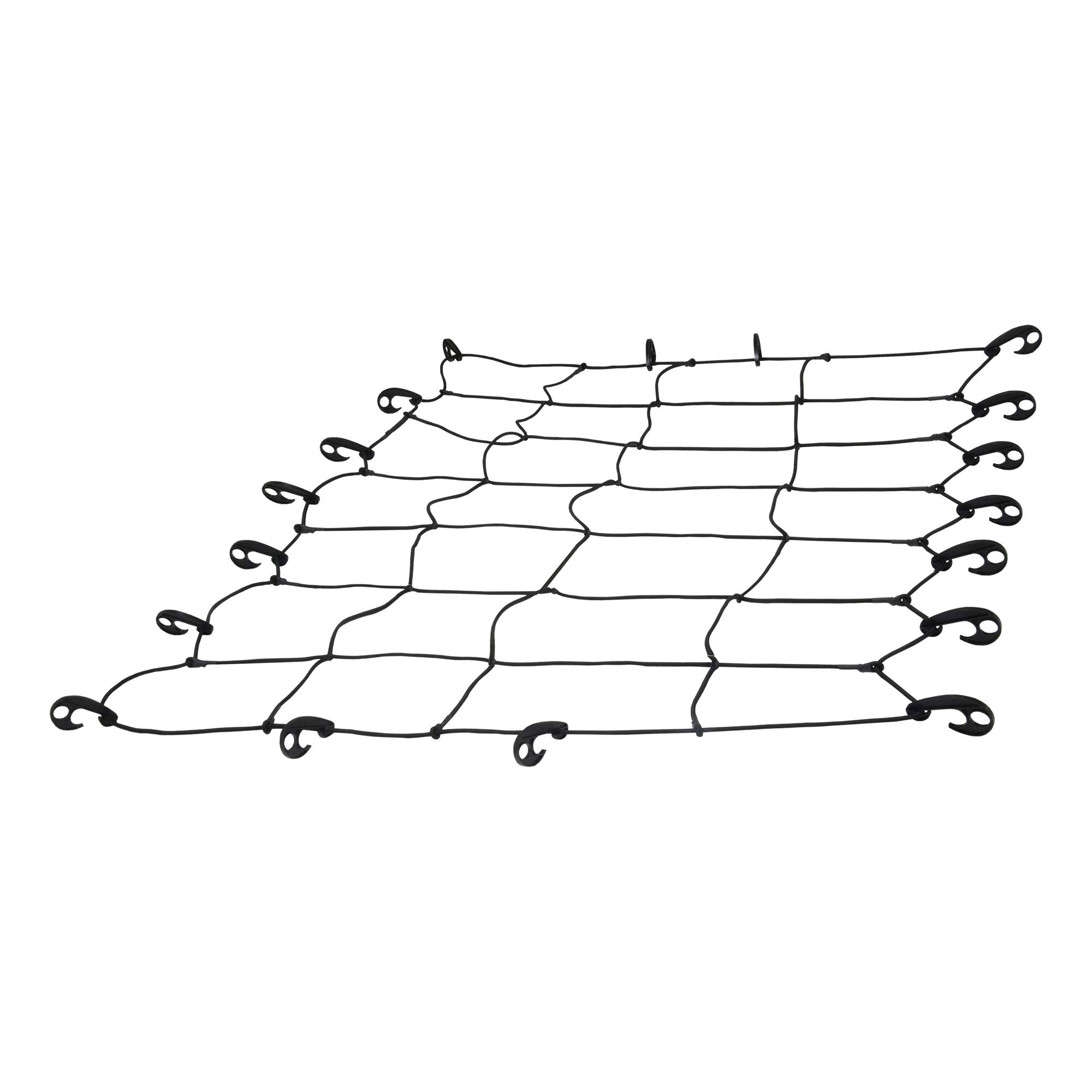 CURT 18201 65 x 38-Inch Elastic Cargo Net with Hooks for Roof Basket