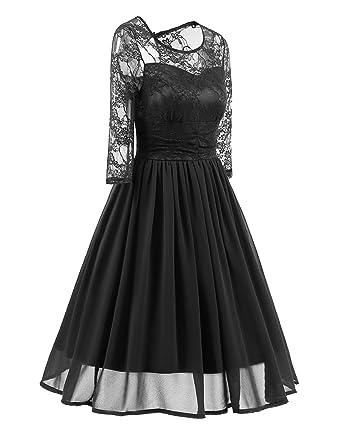38f4fa88063de George Gouge Lace Patchwork Evening Party Dress Women Autumn Vintage Rockabilly  Dresses Long Sleeve Chiffon Swing