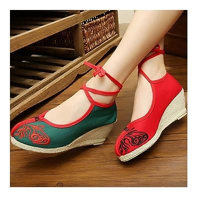 Sandale Forme Pour Plate Talons Les Compensés Floraux Chinoise MqSzVpU