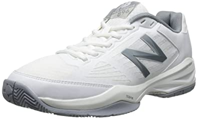 New Balance Women's WC896 Lightweight Tennis Shoe, White/Silver, ...