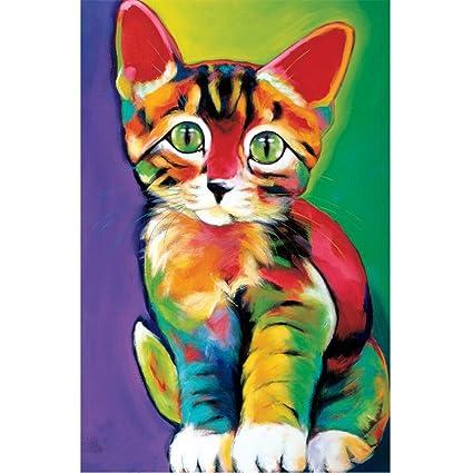 mumustar 5d diy Diamond pintura Kits gatos perros Full taladro Rhinestone Pasted mosaico bordado cruz Kits ...