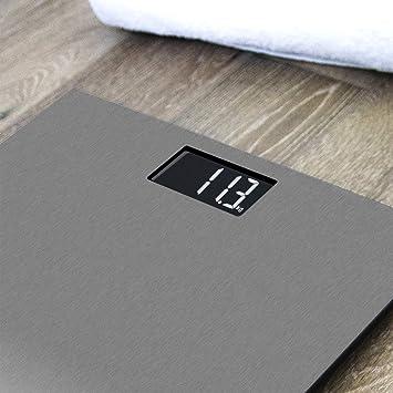 Cecotec Báscula de baño digital Surface Precision 9200 Healthy alta precisión Plataforma de acero inoxidable , pantalla LCD invertida,capacidad máxima de ...