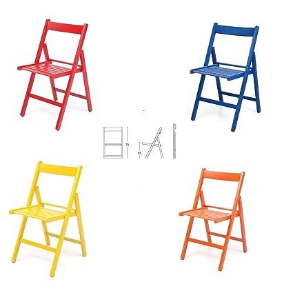 4 sillas colores plegable silla de madera barnizado plegable ...