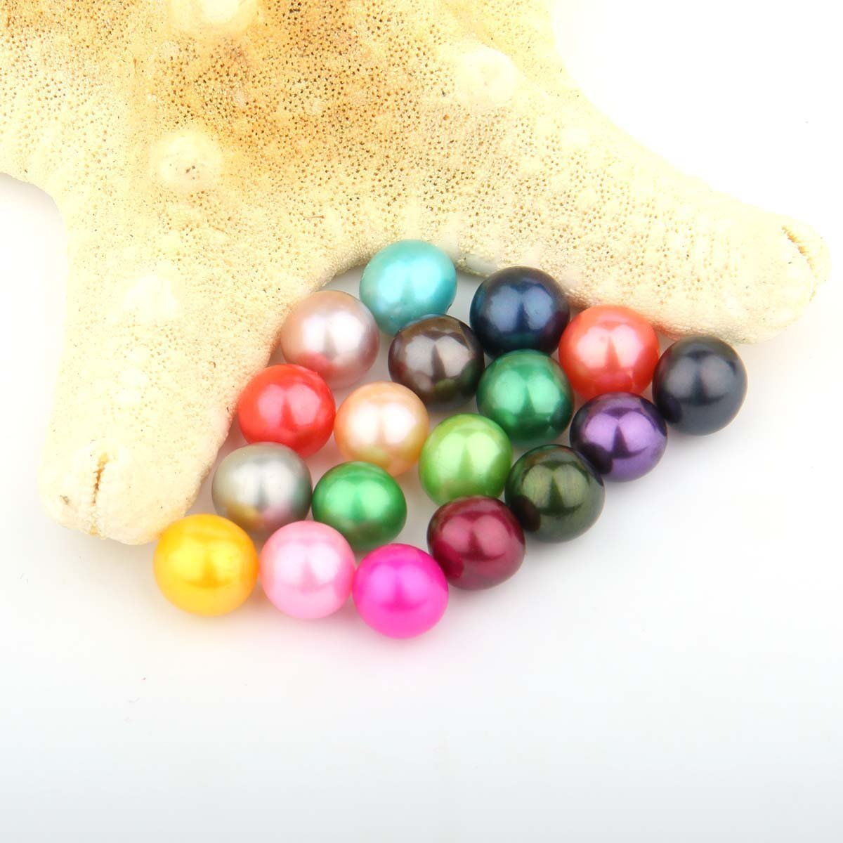 50PC Saltwater Akoya Pearls Oysters with 7-8mm Love Wish Pearl Inside Mixed Colors, Jewelry Making or Birthday Gifts by COOCLE (Image #4)