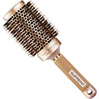 [Upgraded] SUPRENT Blowout Nano Thermic Ceramic & Ionic Round Barrel Hair Brush with Boar Bristle, Best Roller Hairbrush for Blow Drying, Curling &Straightening, Perfect Volume & Shine (3.3 Inch)