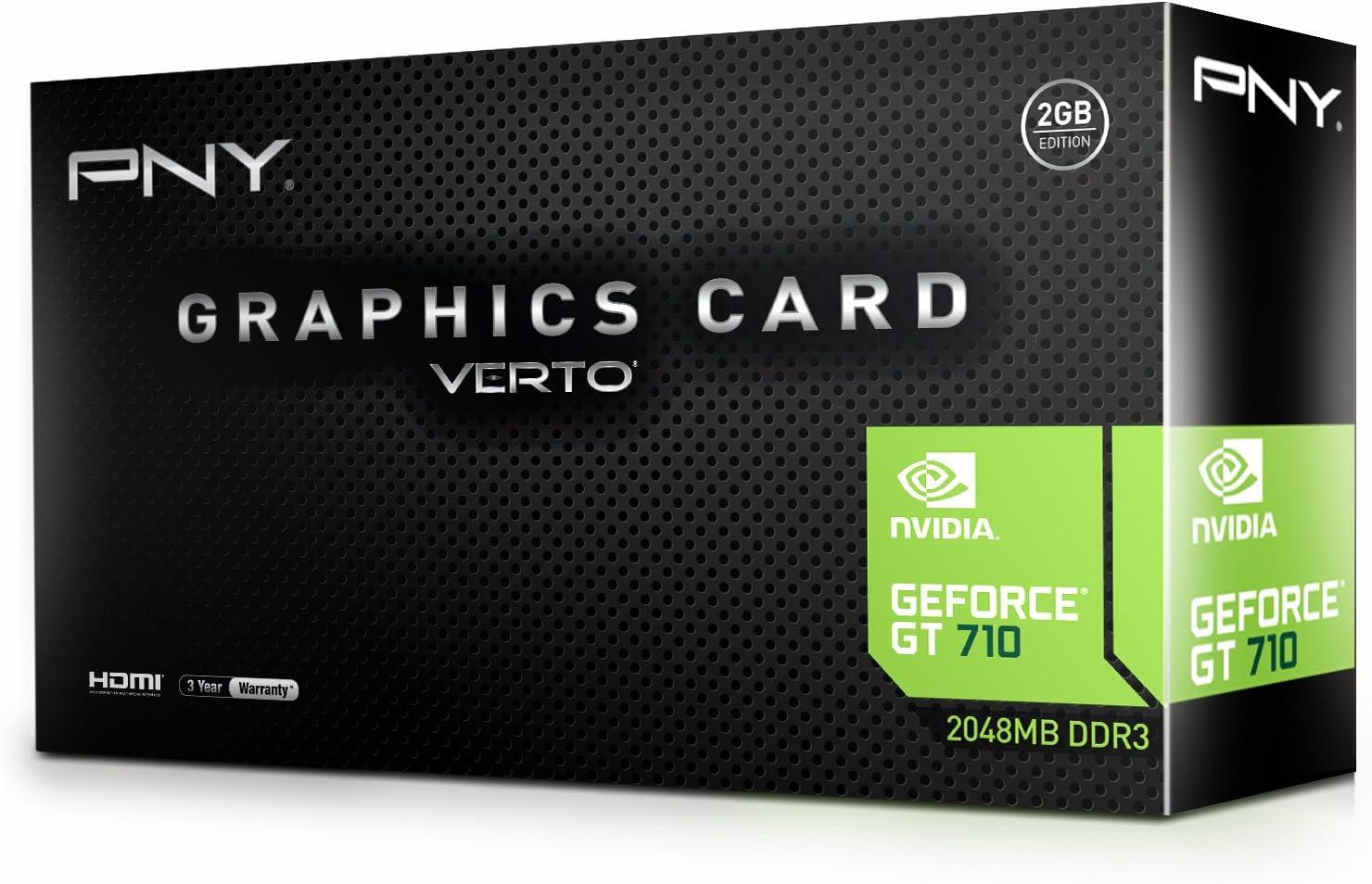 PNY NVIDIA GeForce GT 710 2GB DDR3 VGA/DVI/HDMI Low Profile PCI-Express Video Card.