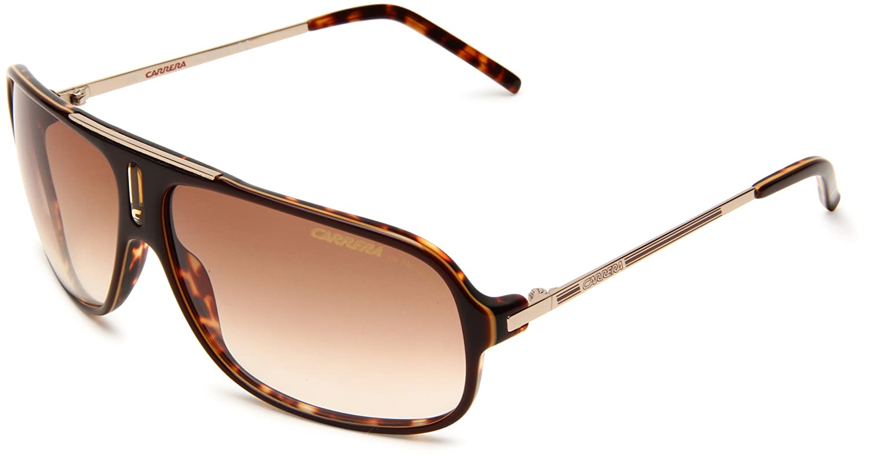Brown Havana & gold Frame Brown Gradient Lens Carrera Cool Navigator Sunglasses