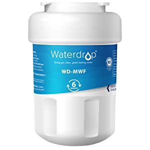 Waterdrop MWF Refrigerator Water Filter, Compatible with GE MWF, MWFP, MWFA, GWF, GWFA, SmartWater, Kenmore 9991, 46-9991, 469991, Standard
