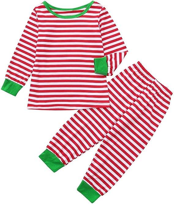cinnamou Pijama Familiar NavideñO Pajamas A Rayas De Color ...