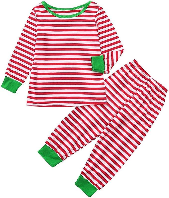 cinnamou Pijama Familiar NavideñO Pajamas A Rayas De ...