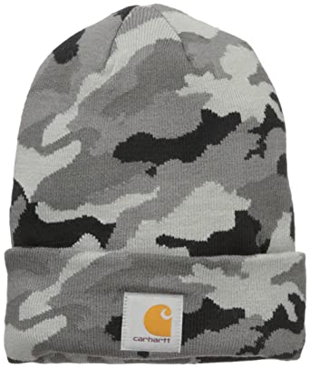 Carhartt Mens Men s Camo Watch Hat Skull Cap - Gray -  Amazon.co.uk ... a07628c1987