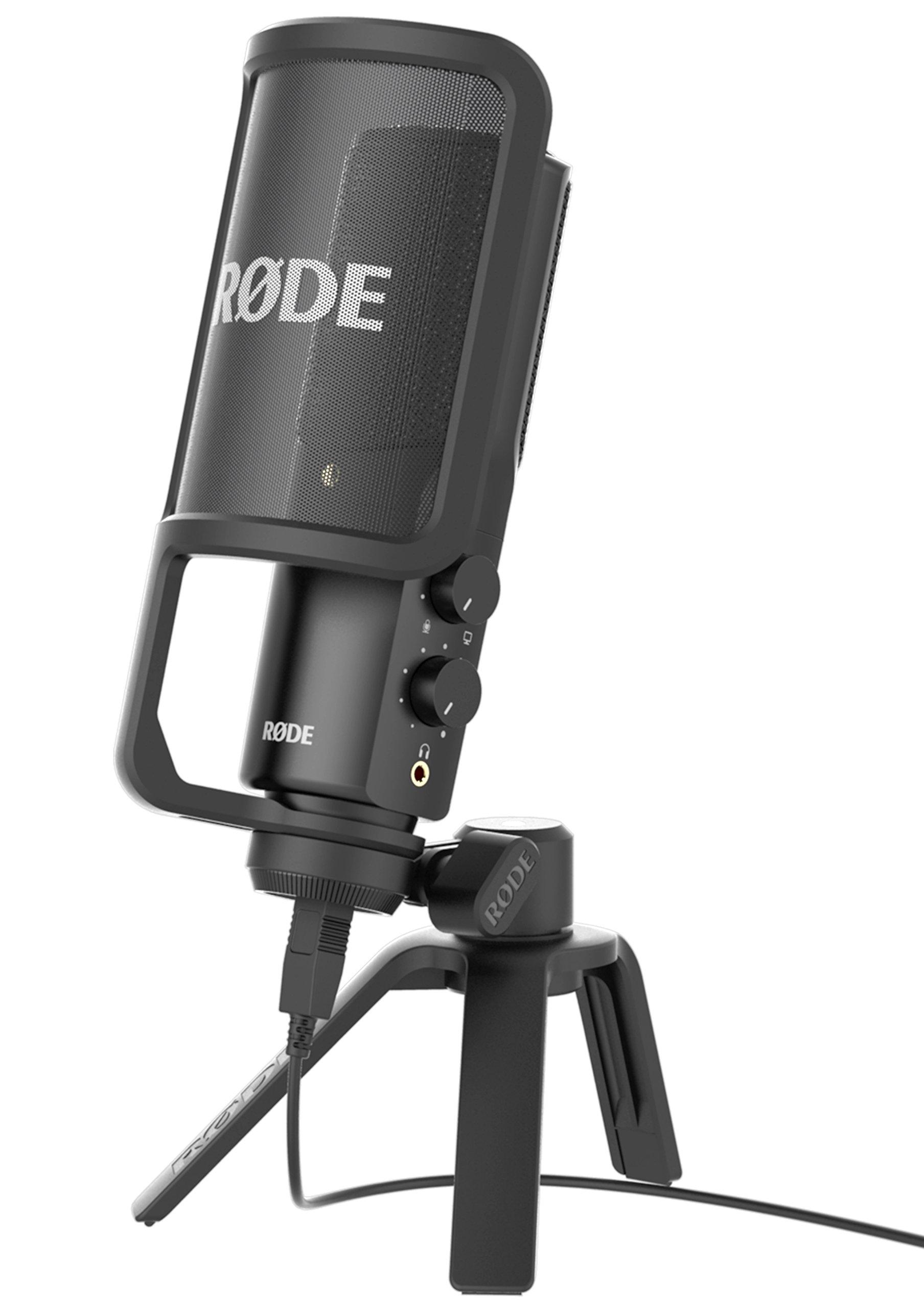 Rode NT-USB Microfono a Condensatore con Filtro Anti-pop e Supporto da  Tavolo 225714697367