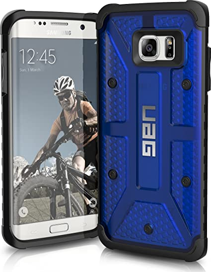 competitive price 0f692 4f1ed Urban Armor Gear UAG Samsung Galaxy S7 Edge [5.5-inch screen] Feather-Light  Composite [COBALT] Military Drop Tested Phone Case (Blue)