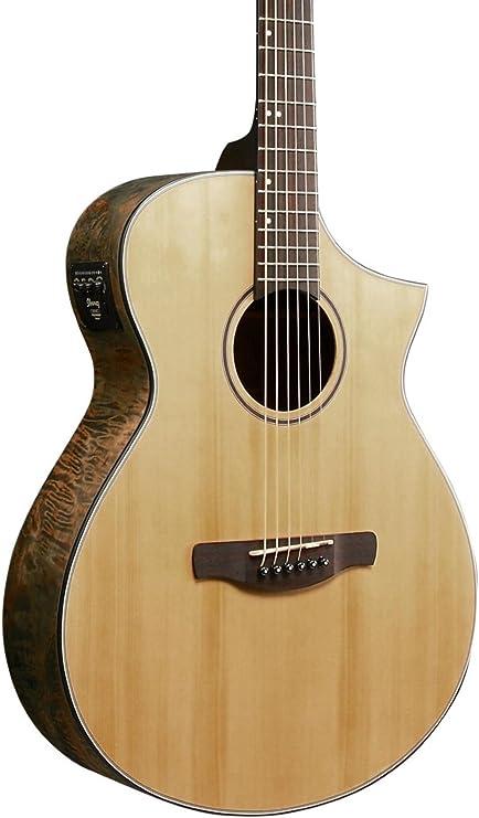 Ibanez AEW serie aewc24mblg Burl de arce guitarra electroacústica ...