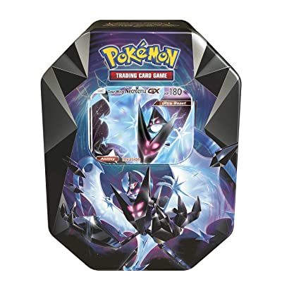 Pokemon TCG: 2020 Spring Dawn Wings NECROZMA Purple TIN- Dawn Wings - 4 Booster Packs with 1 GX Card of Dawn Wings Necrozma-GX: Toys & Games