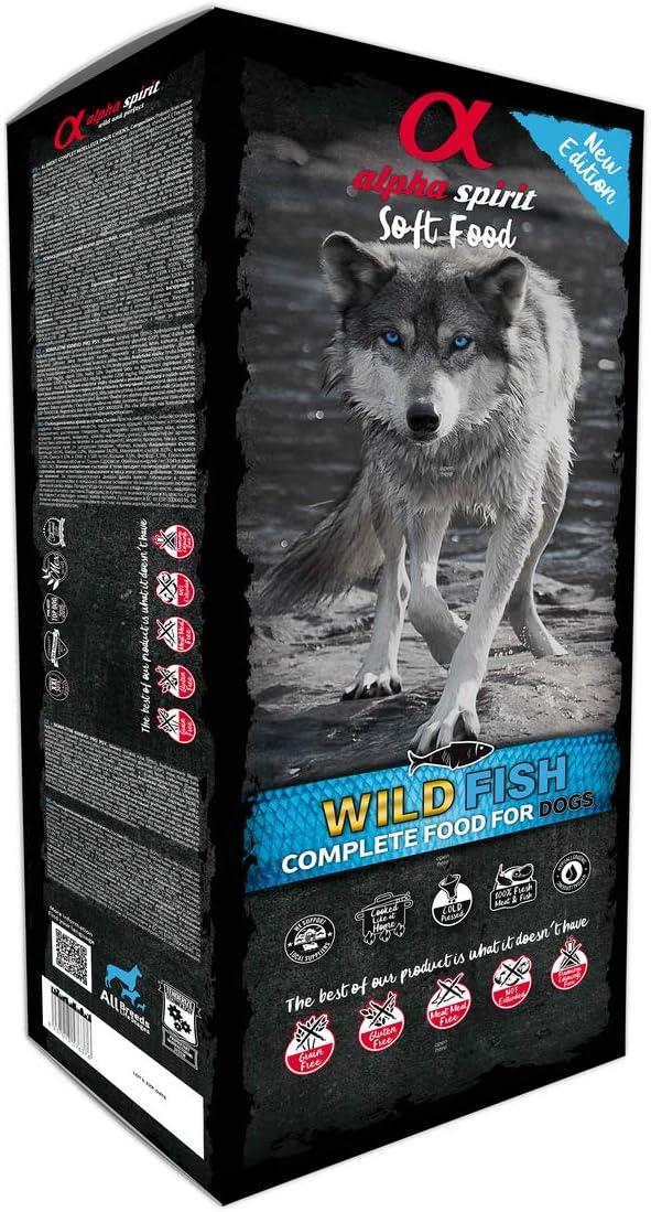 ALPHA Spirit Canine Adult Pescado HUMEDO MONODOSIS 9KG, Negro, Mediano, 9000