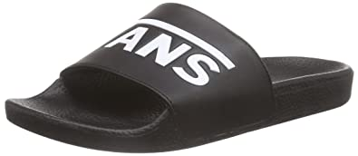 Vans Mens Slide On Black White Synthetic Sandals 9 US