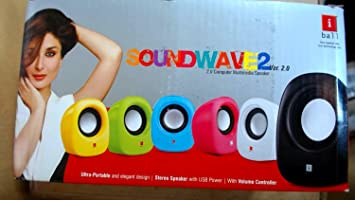 iBall Soundwave2 2.0 Channel Multimedia Speakers  Blue  PC Speakers