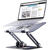 Skrebba Laptop Stand, EPN Laptop Riser with Heat-Vent to Elevate Laptop, Adjustable Height Laptop Holder Desk Stand with…