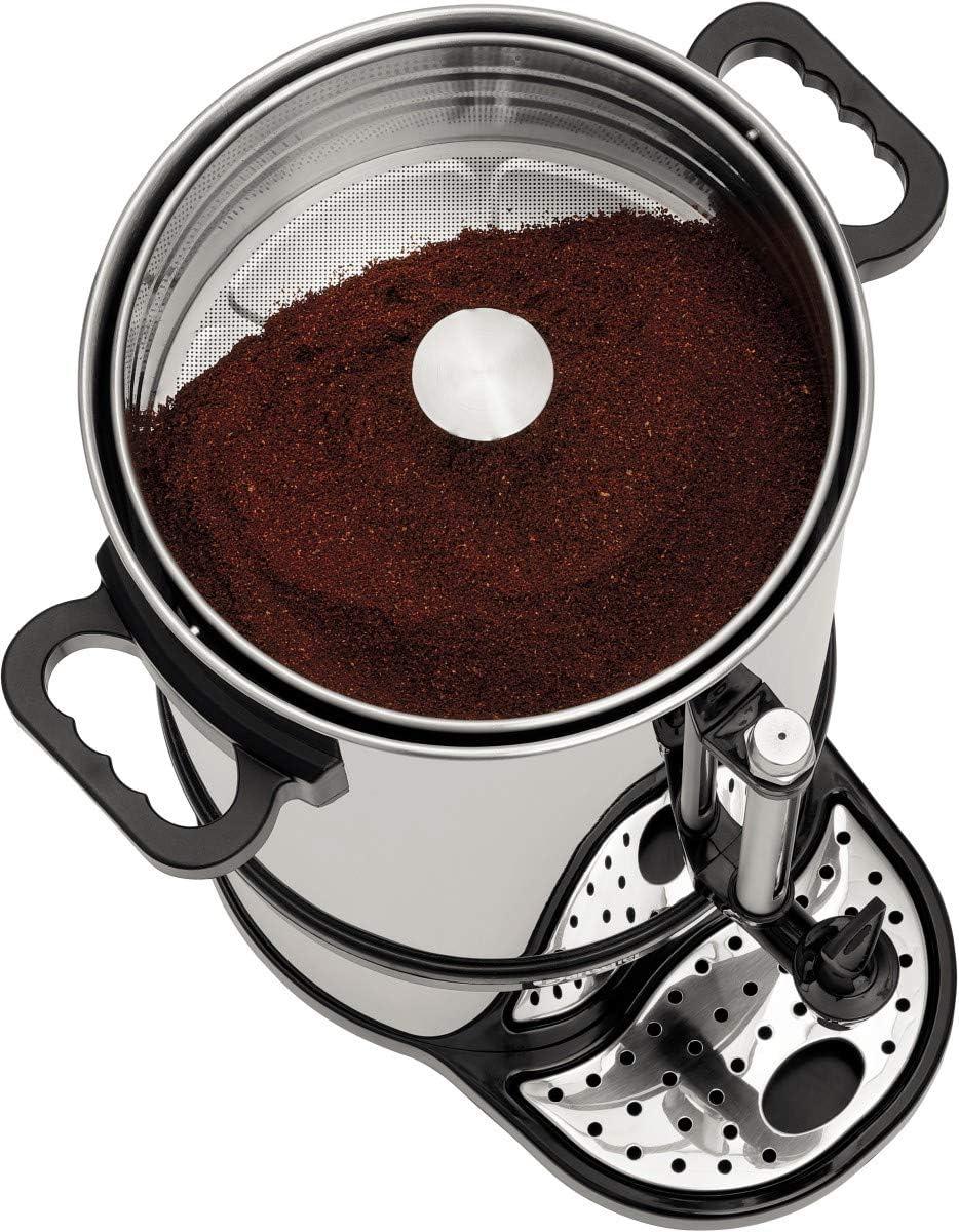 Rundfilter Kaffeemaschine mit Kaffeepulver