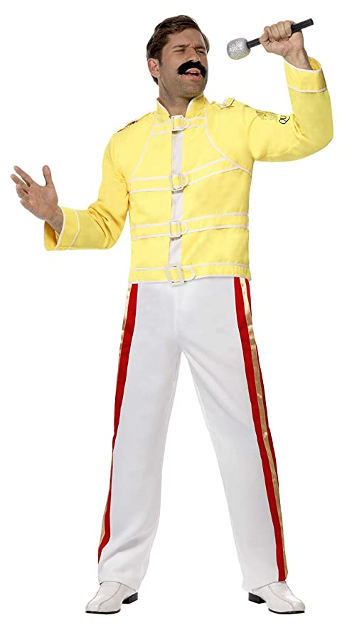 70s Costumes: Disco Costumes, Hippie Outfits Smiffys Freddie Mercury Mens Costume - M $49.91 AT vintagedancer.com