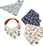 Baby Bandana Drool Bibs for Drooling Teething Feeding - Cute Unisex for Boys and Girls – Plush Absorbent Organic Cotton - Great Baby Gift Set