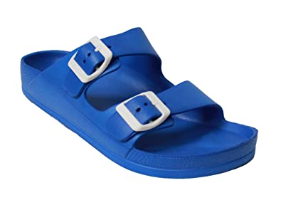 bd7251f8280c H2K Women's Lightweight Comfort Soft Slides EVA Adjustable Double Buckle  Flat Sandals Buddy