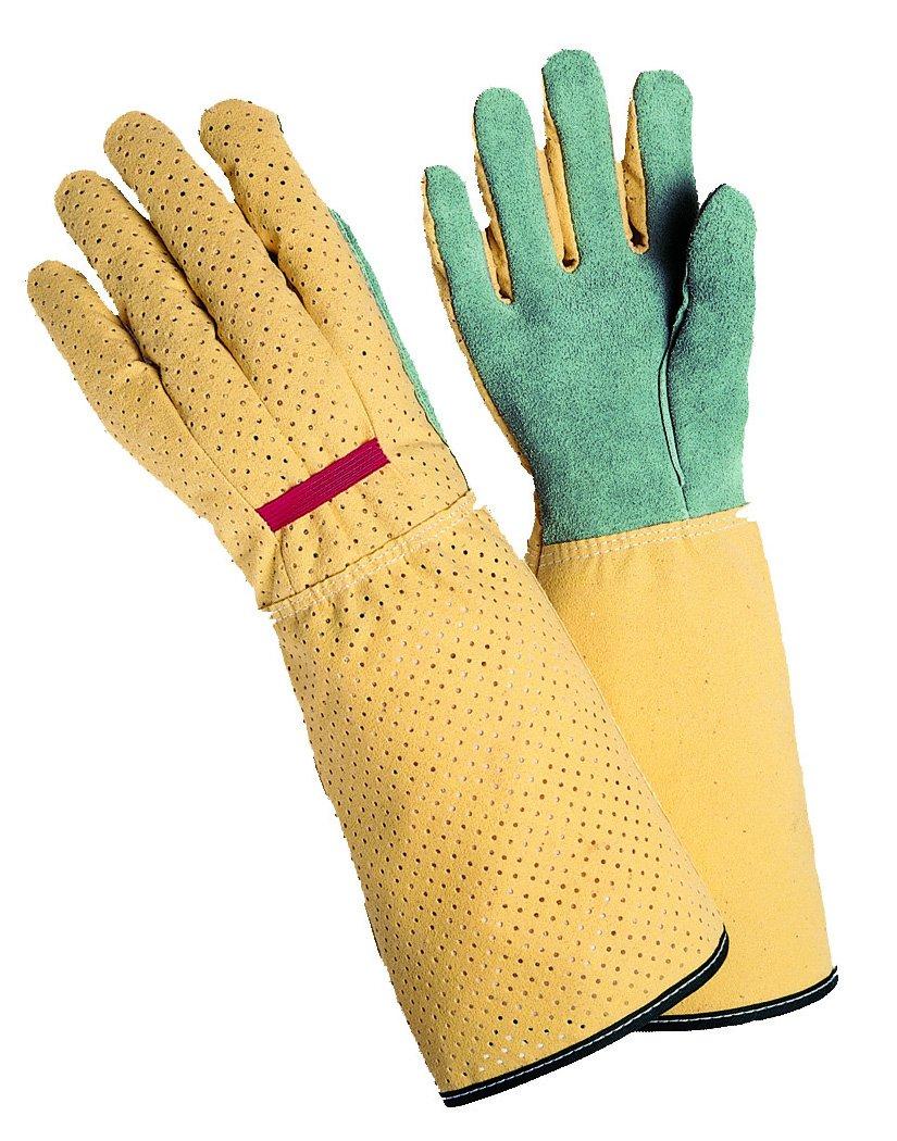 Magid G190T Simply Pastel Women's Rose Glove, Leather Palm, Long Cuff, Medium