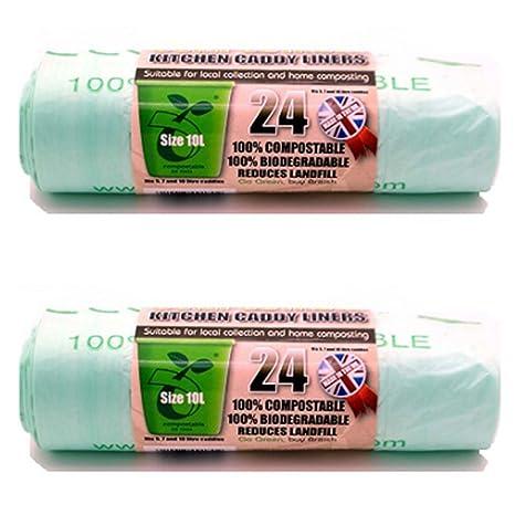 2 x ECO BAG Pack de 24 y compostables (desperdicio de ...