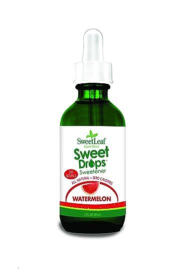 Sabiduría Natural, Sweetleaf Stevia líquido, sweet gotas Edulcorante, sandía, 2 fl oz