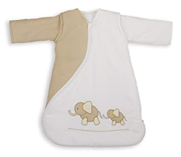 Bordado de PurFlo SleepSac 1,0 tog elefante (Natural, 0 - 3 meses) - Saco de dormir para bebé: Amazon.es: Bebé