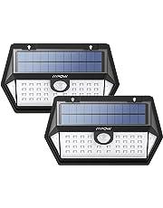 Mpow 40LED Lámpara Solar Exterior, 3 Modos, Memoriar el Modo, Iluminación de 270° con Sensor de Movimiento, Foco Solar IP65 para Jardin, Panel Solar Mejorado para Camino y Garaje(2 Piezas)