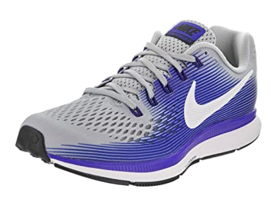 e6642851680b Nike Men s Air Zoom Pegasus 34 Running Shoes-Wolf Grey White Racer Blue