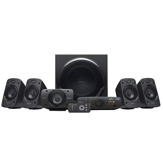 Logitech Z906 5.1 Sistema de Altavoces Sonido Envolvente THX, Certificado Dolby&DTS, 1000 W de Pico, Multi-Dispositivos, Entradas Audio Múltiples, ...