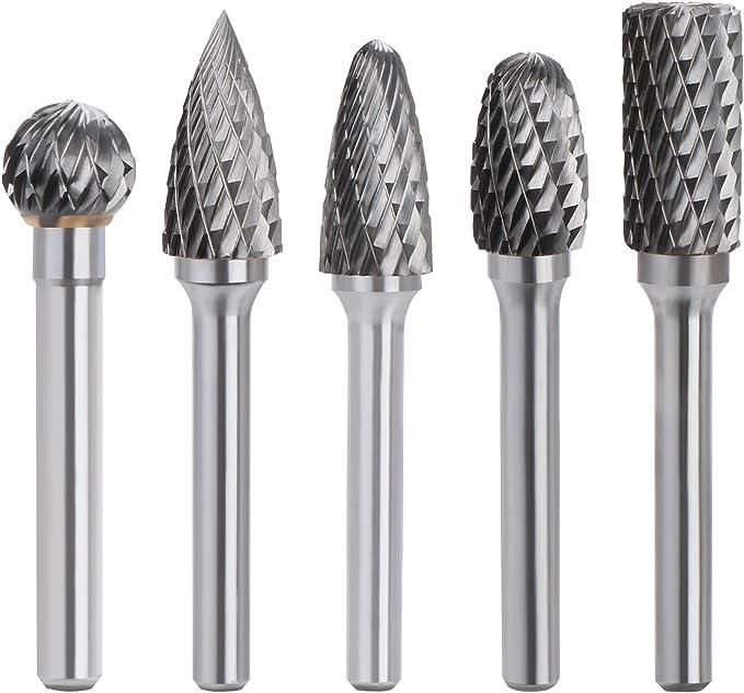 Haoshengo 6pcs 4-12mm Hex Shank Tungsten Carbide Glass Drill Bit Cross Spear Point Head Drill Bit