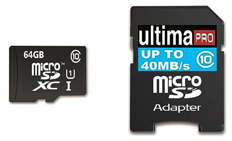Memzi 64 GB Class 10 40 mb/S Ultima Pro Micro tarjeta de ...