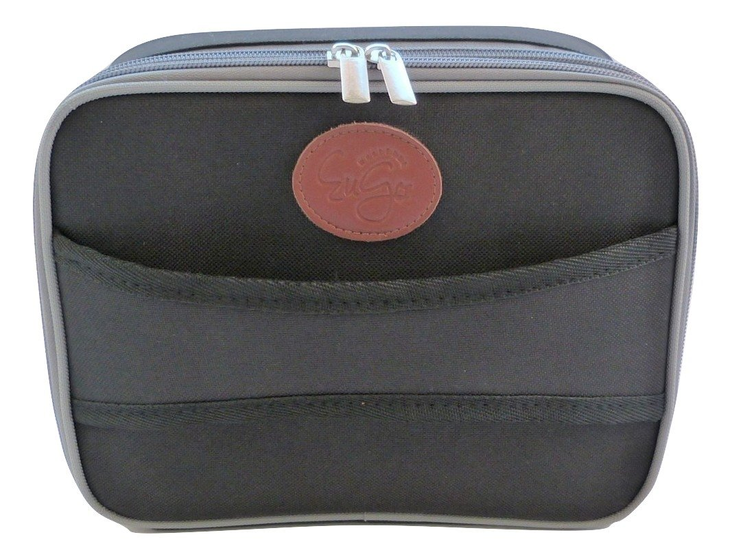 Wherever EuGo Diabetes Supplies Travel Bag and Organizer - Classic Black & Gray
