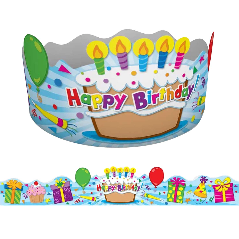Carson-Dellosa CD-101021BN Birthday Crowns, 30 Per Pack, 2 Packs by Carson-Dellosa