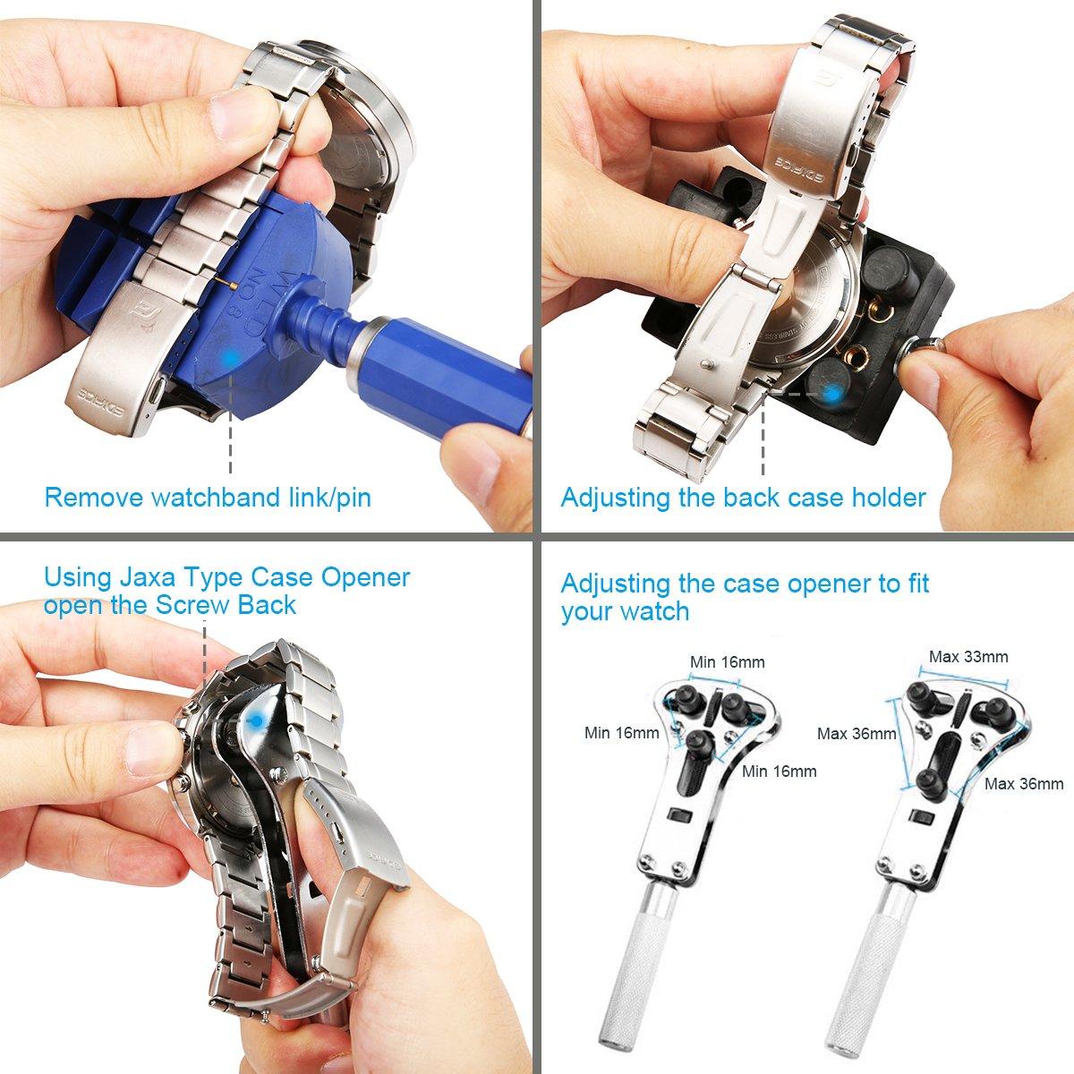 Watch Repair Kit, Baban 147 Pcs Watch Tools Professional Spring Bar Tool Set , Watch Band Link Pin Tool Set, Watch Band Link Pin Remover, Your Tools