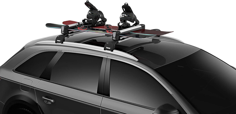 Ski Roof Mount Rack SnowRack Fits 6 Pair Skis or 4 Snowboards w// Locks Gift