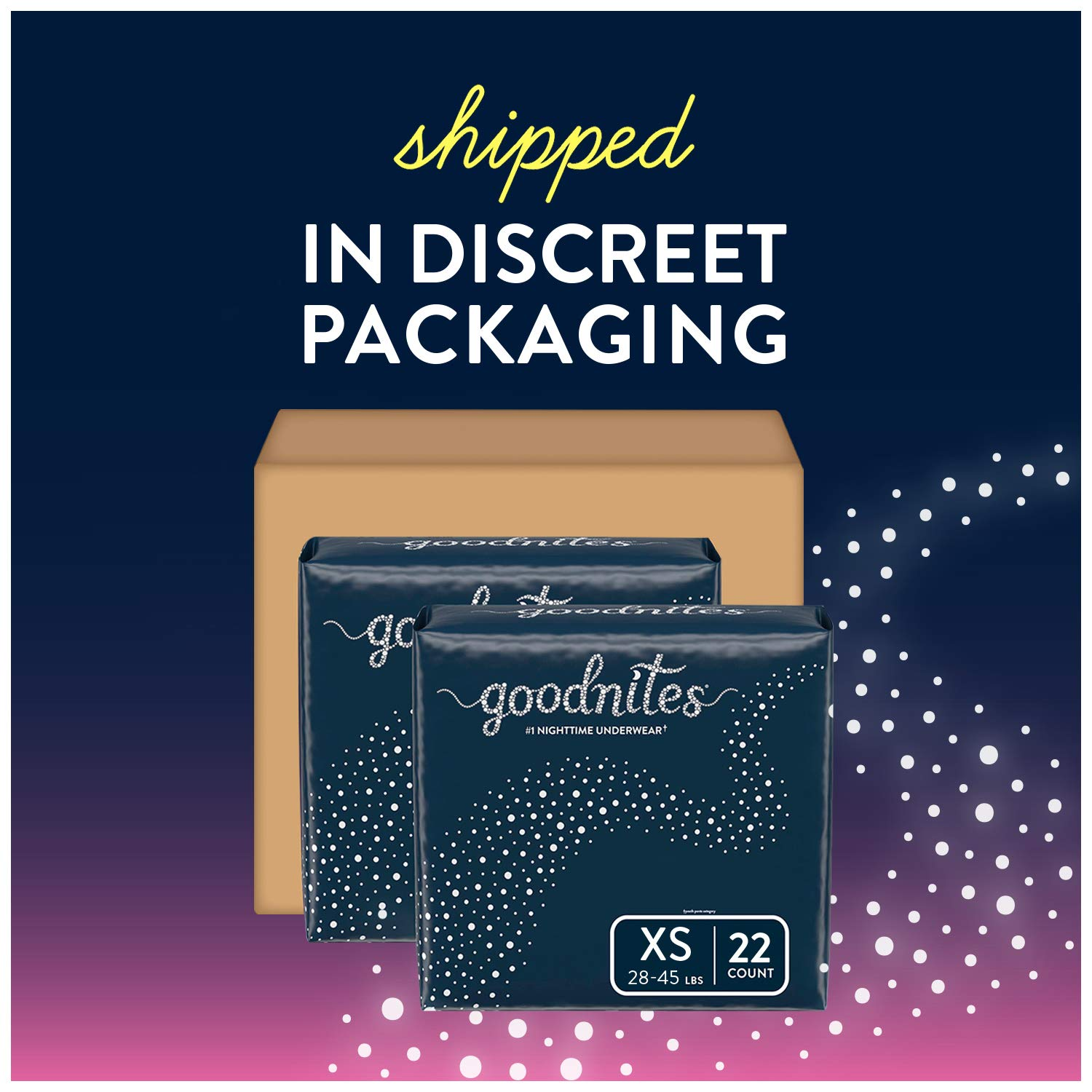 Goodnites Bedwetting Underwear for Girls, X-Small (28-45 lb.), 44 Ct (Packaging May Vary)