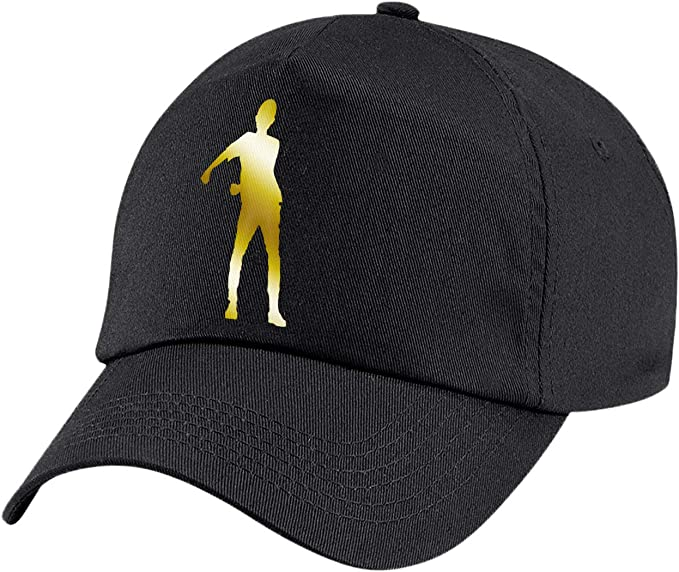 laylawson Kids Metallic Gold//Silver Floss Dance Cap Boys Girls Gamer Summer Hat