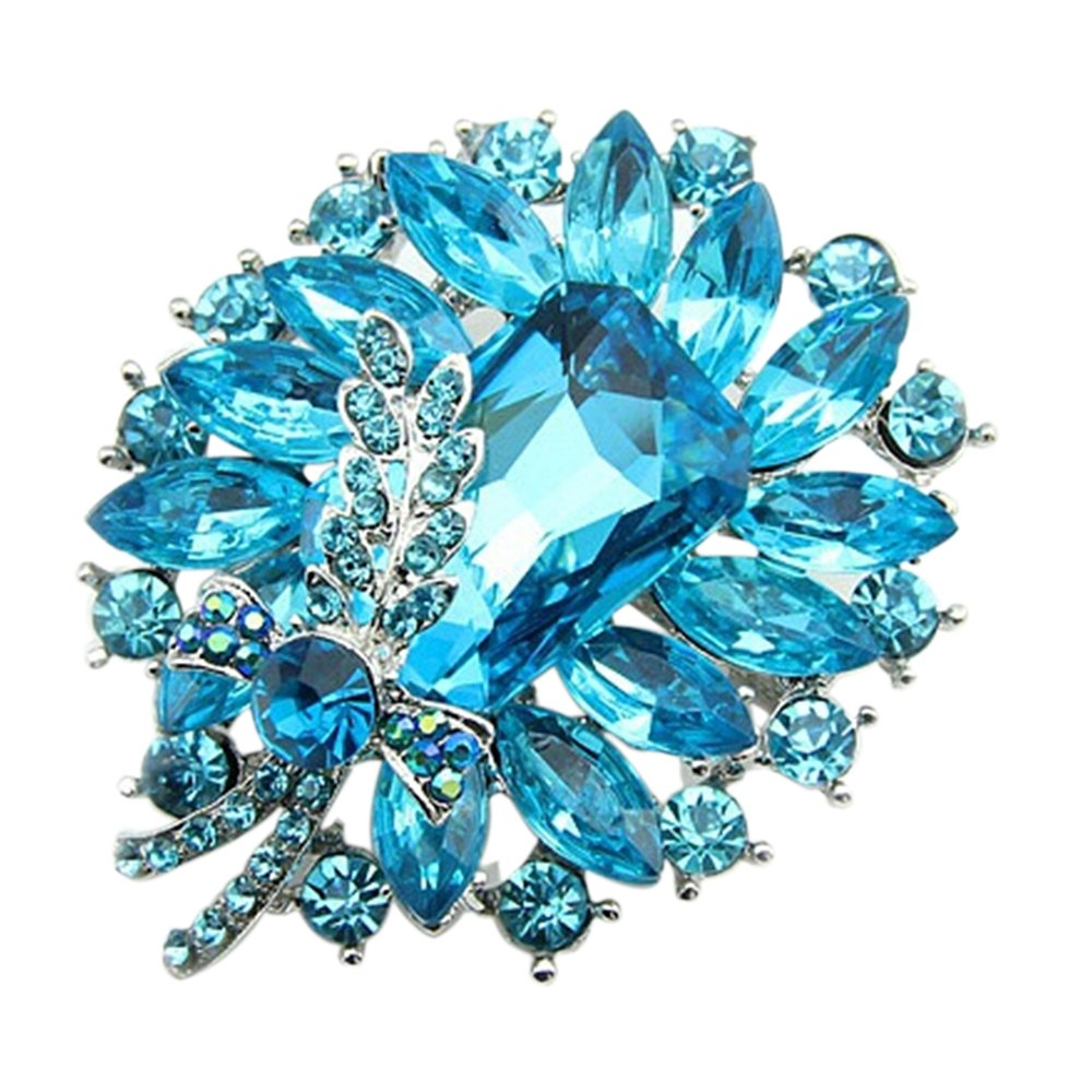 Gilroy Womens Banquet Party Brooch Pin Crystal Broach Wedding Gifts 262B143021NCKUT5234