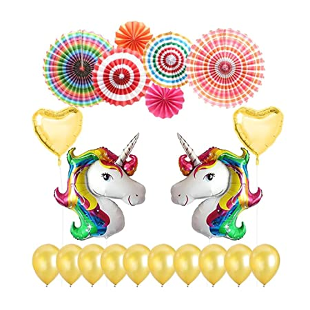 D DOLITY 20 pcs Accesorio de decoración Boda balón Unicornio ...