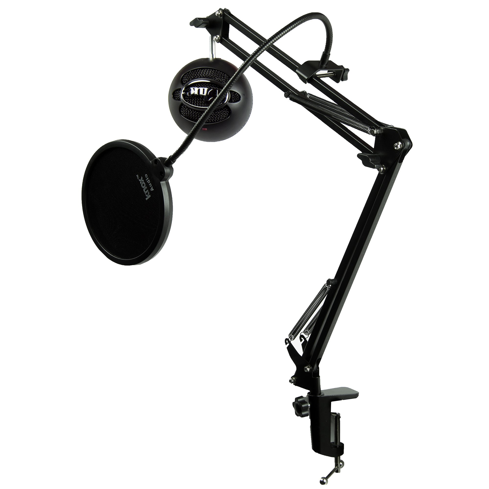 Blue Microphones Snowball iCE Black Microphone with Knox Studio Boom Arm & Pop Filter by Blue Microphones