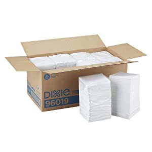 Dixie 1-Ply Beverage Napkin by GP PRO (Georgia-Pacific), White, 1/4 Fold, 96019, 500 Napkins Per Pack, 8 Packs Per Case, 4000ct