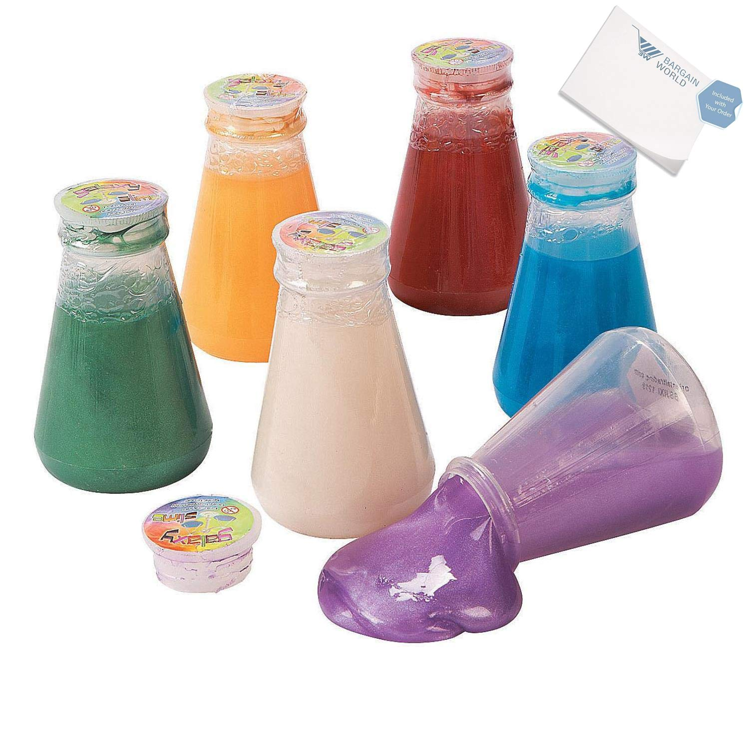 Bargain World Metallic Slime in Laboratory Flasks (With Sticky Notes) by Bargain World (Image #3)