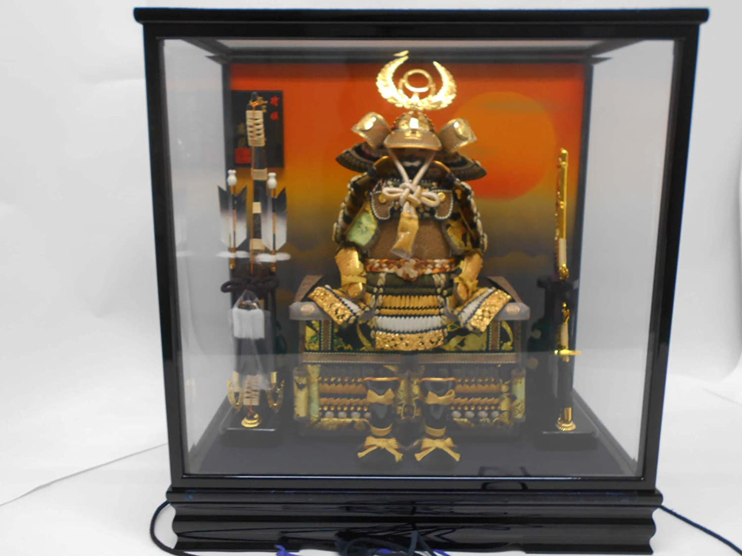 Tokugawa Ieyasu Armor A glass case The opening and shutting system. B079KP6LQP