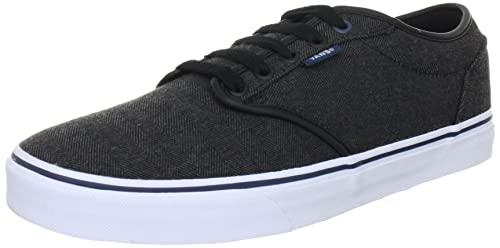Vans Men s Atwood Skateboarding Shoe (Textile) Black Orion (6Y M ... 948ca6633b