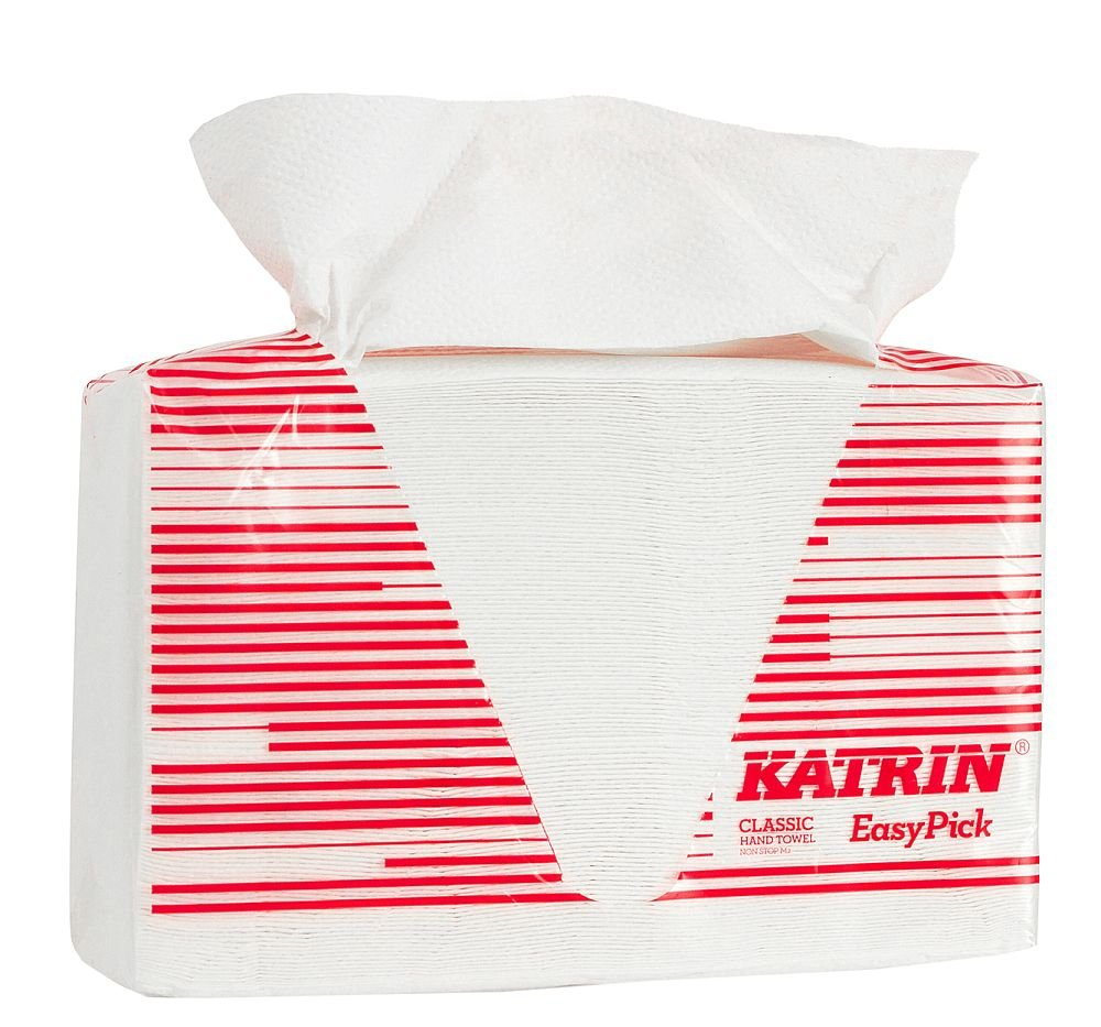 Smart packaging 2-Ply Pack of 1080 Katrin 343122 Classic quality Interleaved Non Stop Easy Pick hand towels white